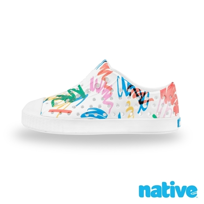 native 大童鞋 JEFFERSON 小奶油頭鞋-蠟筆派對