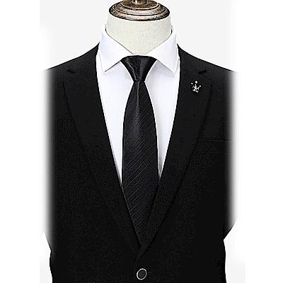 拉福   極線8CM寬版領帶拉鍊領帶(兒童)