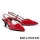 高跟鞋 MELROSE 細緻高雅亮面全真皮尖頭高跟鞋-紅 product thumbnail 1