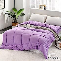FOCA送抗菌舒眠枕X2   紫羅蘭-炫彩可水洗/機洗抗菌防蹣羽絲絨被6x7尺