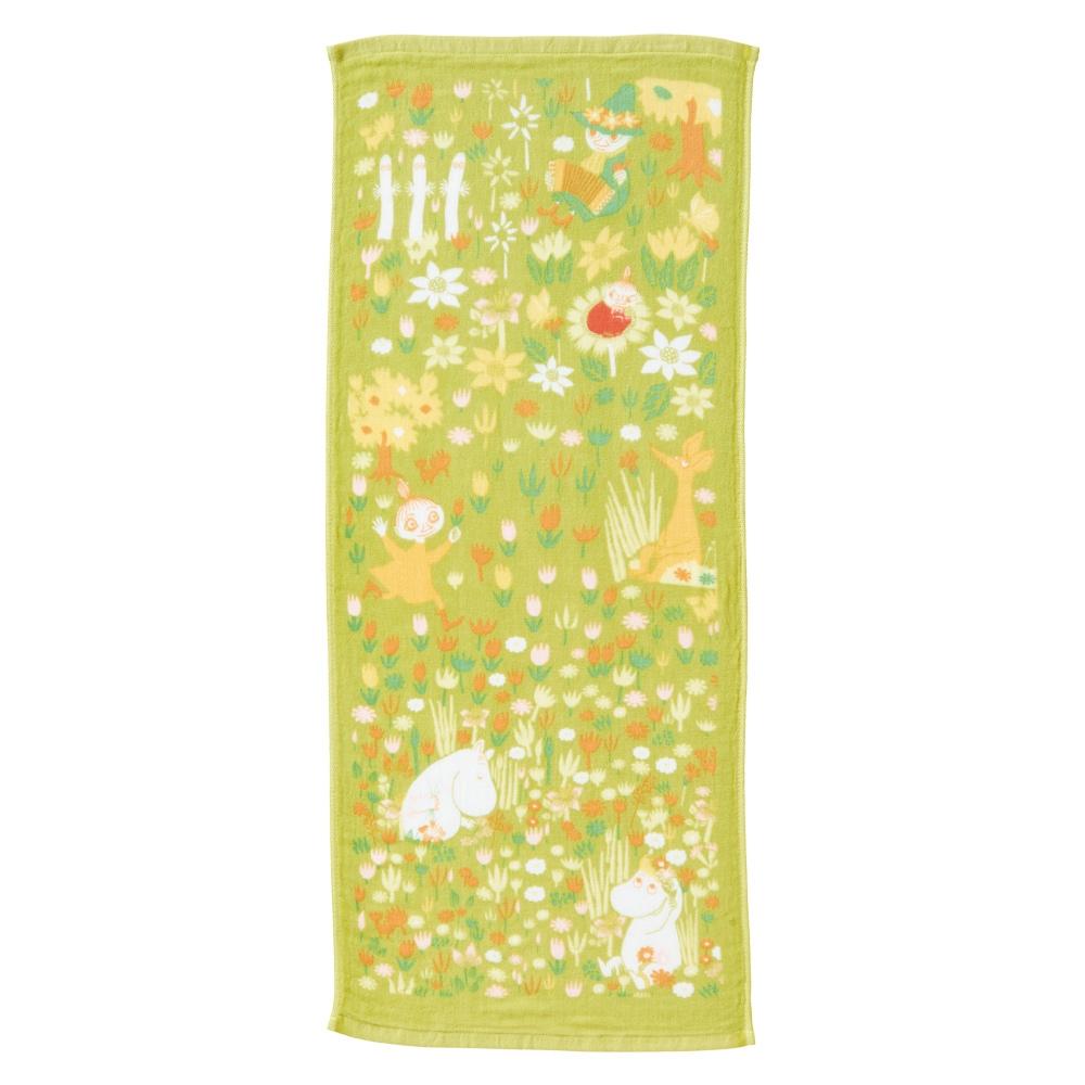 日本丸真 Moomin嚕嚕米 今治紗布毛巾- 春季花海