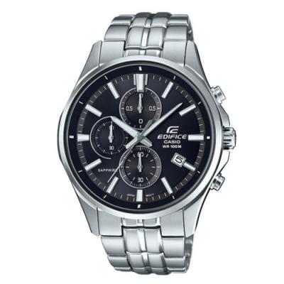 CASIO卡西歐 沉穩黑色錶面腕錶(EFB-530D-1A)