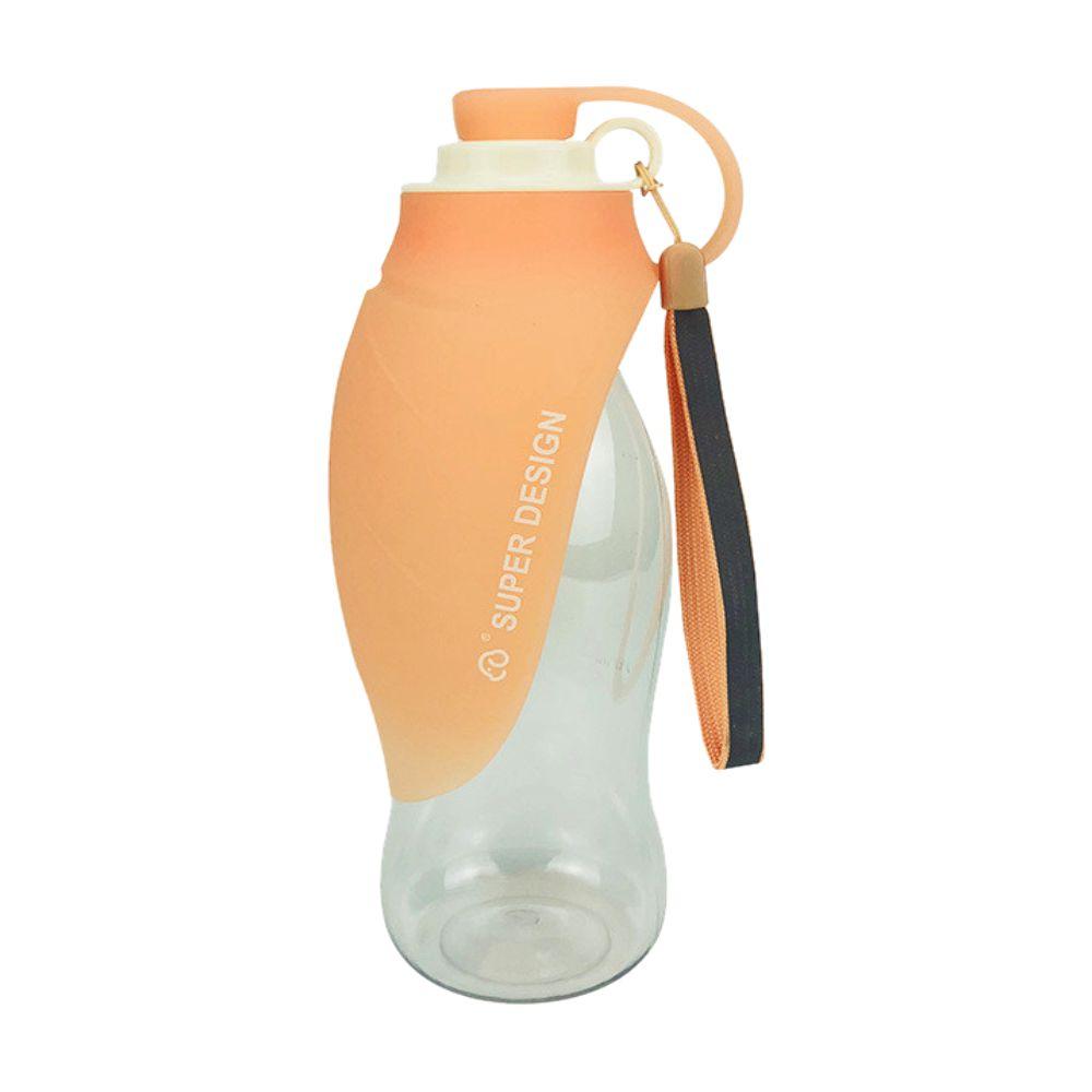 摩達客-Super SD Pets寵物樹葉折疊餵水器/600ml水壺(橘色)