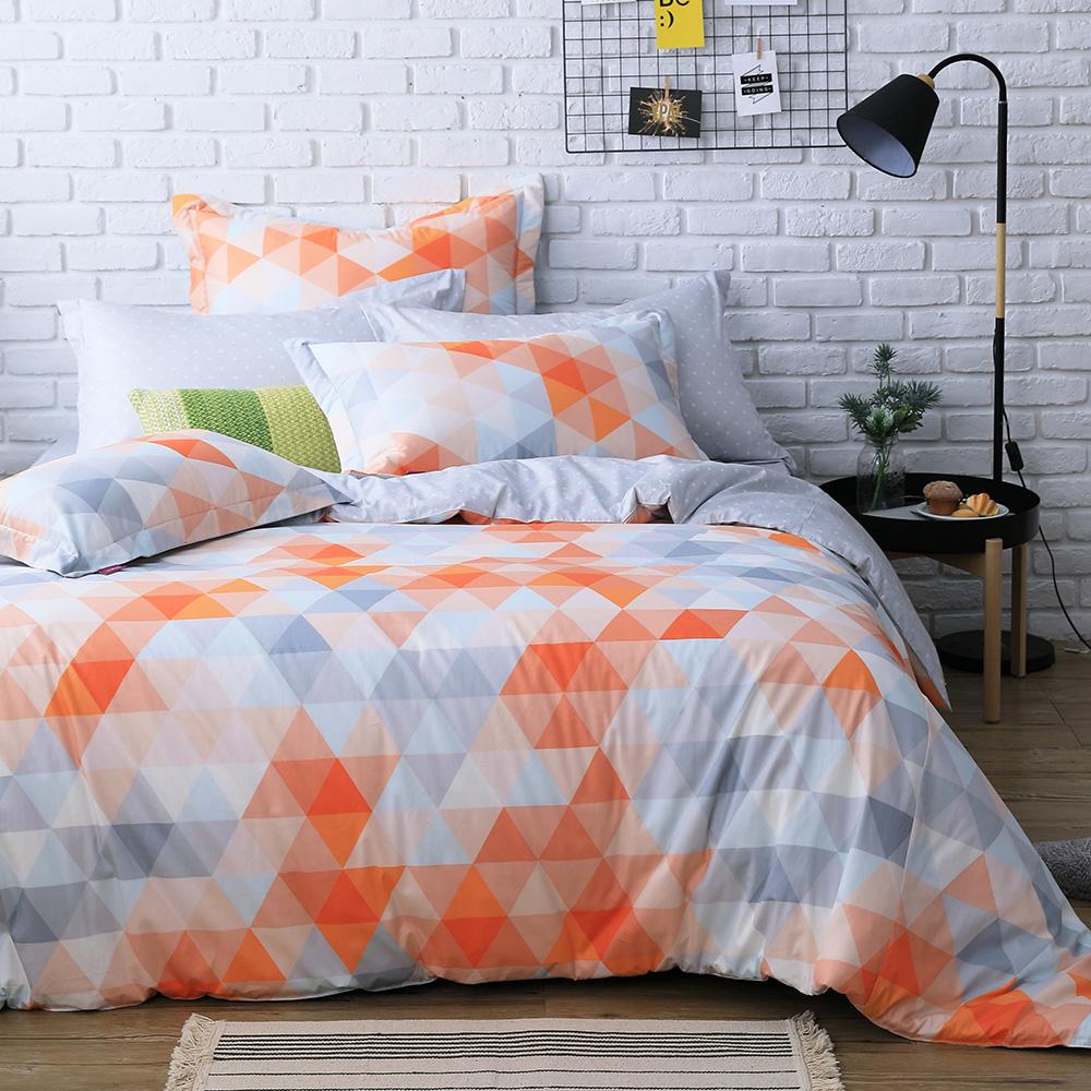 IN HOUSE-orange prism-200織紗精梳棉-兩用被床包組(雙人)
