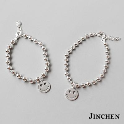 JINCHEN 純銀珠珠微笑手鍊
