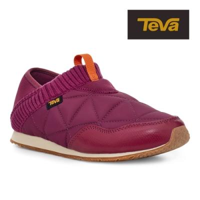 【TEVA】原廠貨 女 Ember Moc 防潑水菠蘿麵包鞋/休閒鞋/懶人鞋(莧色-TV1018225ATH)