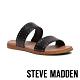STEVE MADDEN-DUAL-S 率性時尚 綿羊皮圓鉚釘鑲邊涼拖鞋-黑色 product thumbnail 1