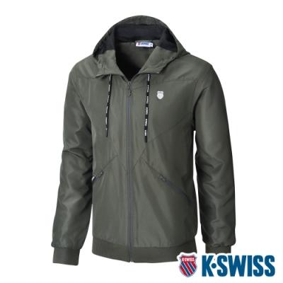 K-SWISS Ct Solid Jacket 1風衣外套-男-橄欖綠