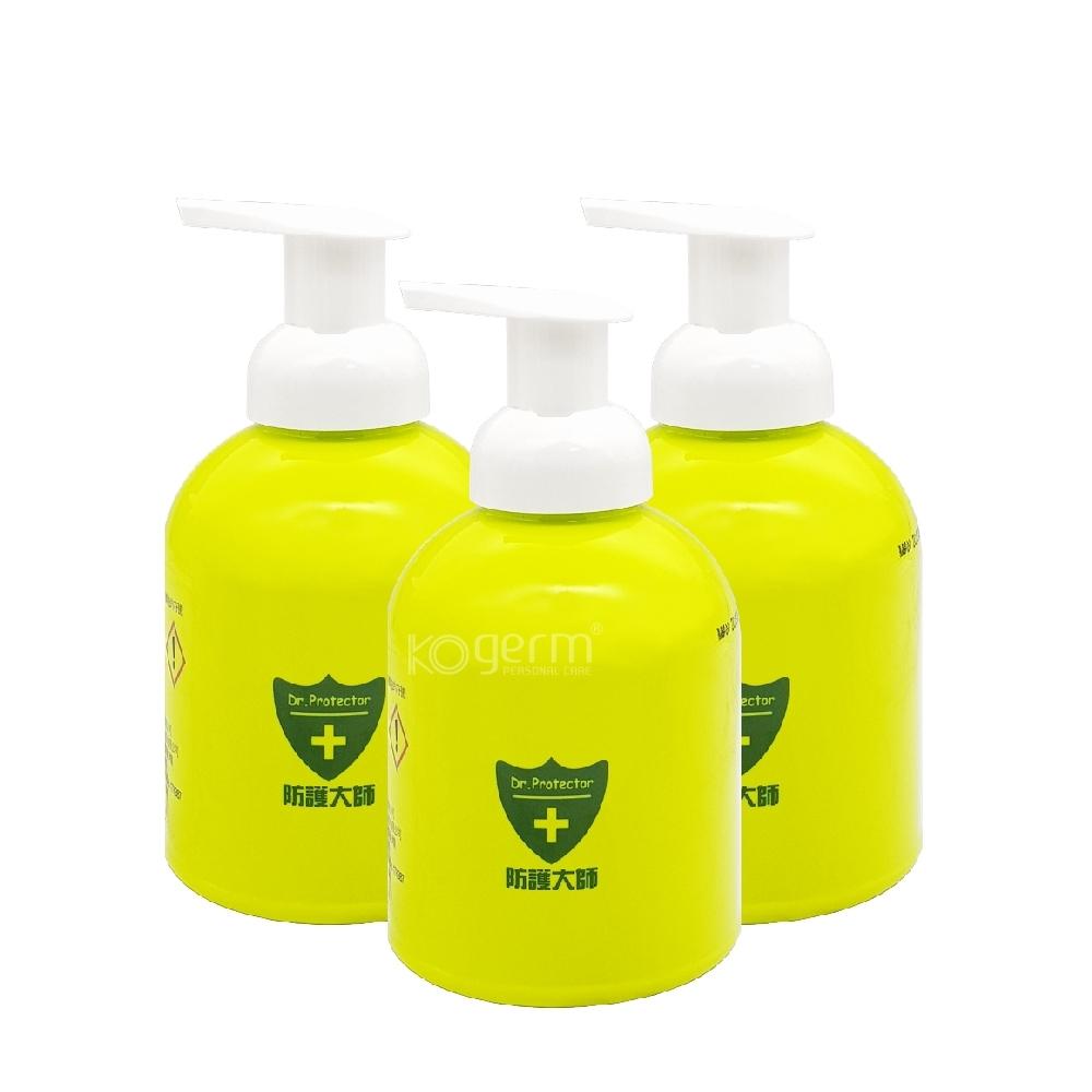 防護大師長效泡沫抗菌洗手液500ml*3瓶