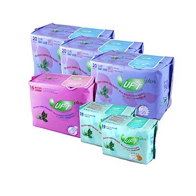 UFT蘆薈草本衛生棉6件組 3日用 1夜用 2護墊