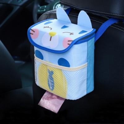 卡通造型車用垃圾桶/收納盒 可掛式置物盒 汽車椅背收納袋