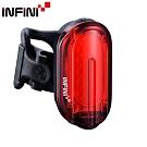 INFINI OLLEY I-210R COB LED7模式超輕量USB充電後燈/尾燈-黑