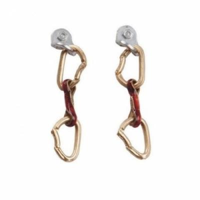 SAC E14 Spit Express 琺瑯釉鍍金/銀耳環 快扣鉤環 成對 紅