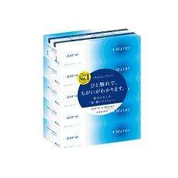 日本大王  elleair Water水潤柔感抽取面紙 180抽X5盒/