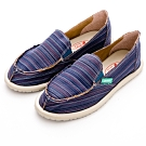 River&Moon休閒鞋-繽紛條紋懶人鞋-藍系