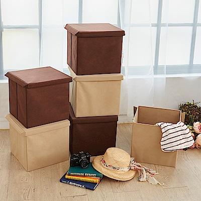 H&R安室家 可折疊不織布收納箱/收納盒3入組 BNF54