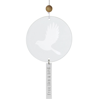 《RADER》磨砂玻璃掛飾(鳥)
