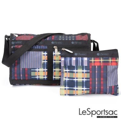 LeSportsac - Standard 雙口袋斜背包-附化妝包 (格紋盛宴)