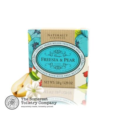Somerset 賽玫特 英國自然歐洲乳油木香皂150g-英國梨與小蒼蘭