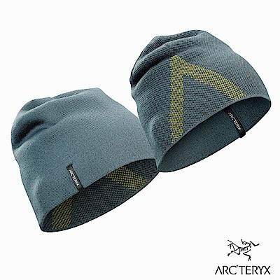 Arcteryx Crest 保暖針織毛帽 獵戶綠/沼澤黃