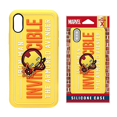 iPhone X Marvel 正版授權 3D/浮雕 矽膠 手機軟殼 5.8吋-...