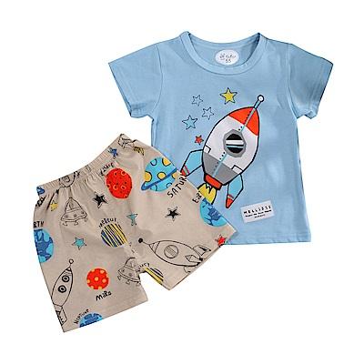 火箭印花短袖套裝 k51124 魔法Baby