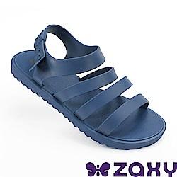 Zaxy 巴西 女 春日風采平底涼鞋-藍色