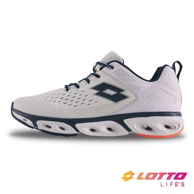 【LOTTO】義大利 男 AIR FLOW 410 風動跑鞋(白)