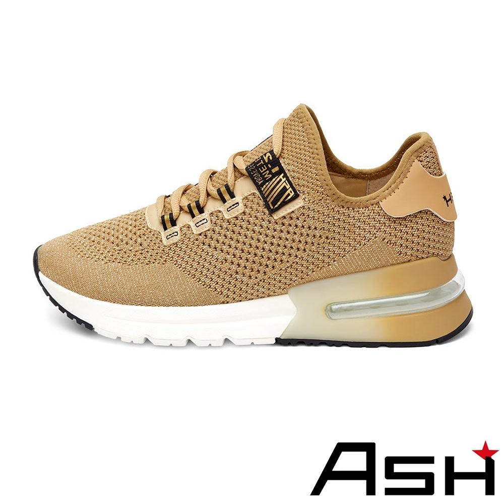 ASH-KRUSH LUREX透氣拼接編織氣墊運動鞋-金