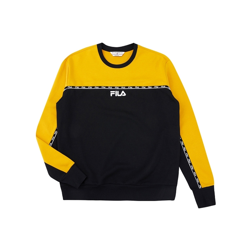 FILA #架勢新潮 長袖圓領T恤-黑色 1TEV-1401-BK
