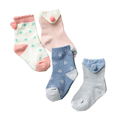 秋冬寶寶學院風童襪4雙組