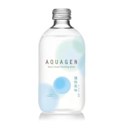 【AQUAGEN】海洋深層氣泡水4入迷你箱(原味X2 優格X2)