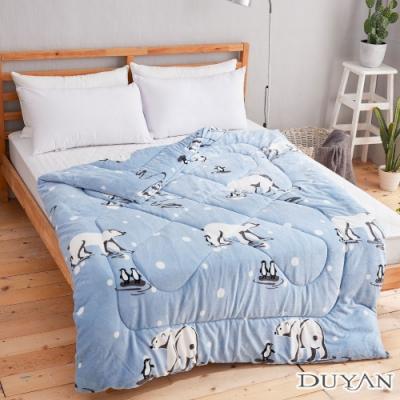 DUYAN 竹漾-100%法蘭絨暖暖被-遇見北極熊