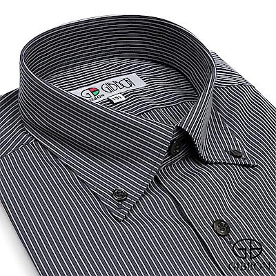 GIBBON 都會紳仕條紋長袖襯衫‧黑色