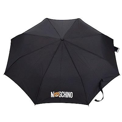 MOSCHINO Mini 黑色泰迪熊傘柄設計折疊晴雨傘(展示品)