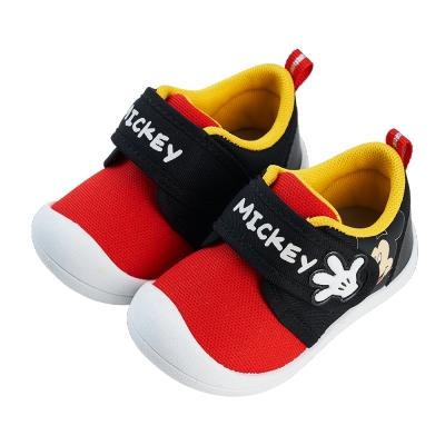 迪士尼童鞋 米奇 趣味造型寶寶學步鞋-黑紅(柏睿鞋業)