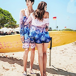 Biki比基尼妮泳衣 愛蜜莉情侶沖浪服防晒拉鍊外套長袖泳衣(男/女)