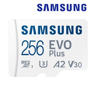 SAMSUNG 三星EVO Plus microSDXC UHS-I U3 A2 V30 256GB記憶卡 公司貨