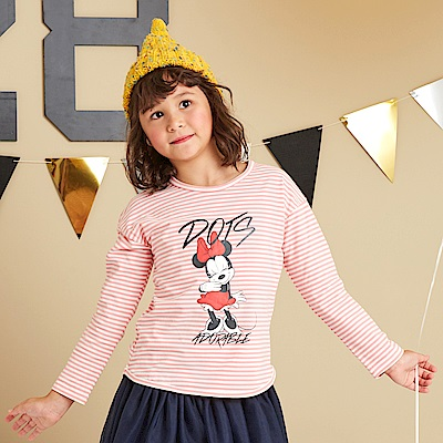 Disney 米妮系列閃亮甜心條紋上衣(2色可選)