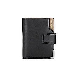 JINBAILAI  GT0212BK韓版三折皮夹錢包附零錢包黑色
