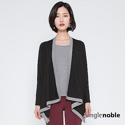 獨身貴族 都會女伶傘襬剪裁假兩件上衣(1色) @ Y!購物