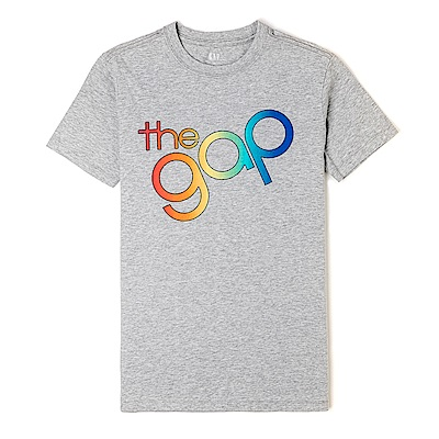 GAP 經典LOGO標誌短袖T恤-灰色