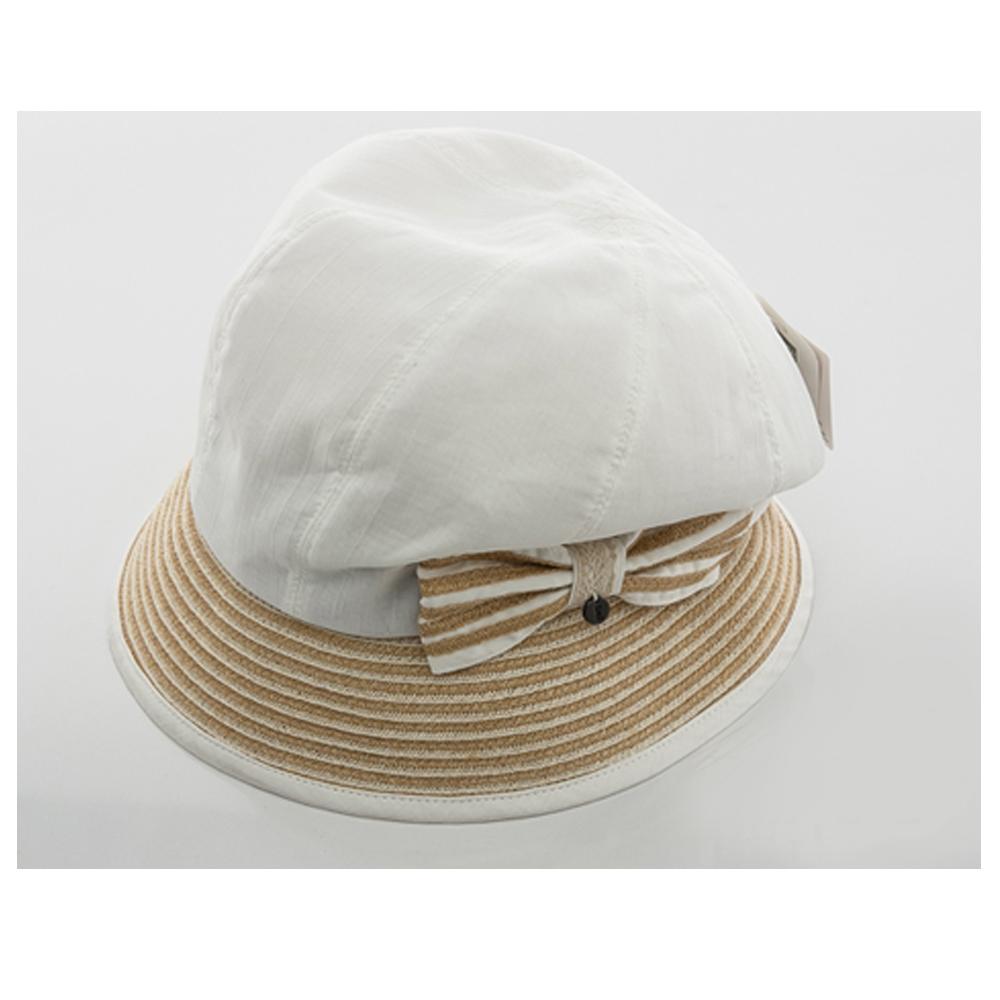 ELLE俏麗潮流棉麻異素材設計圓帽 product image 1