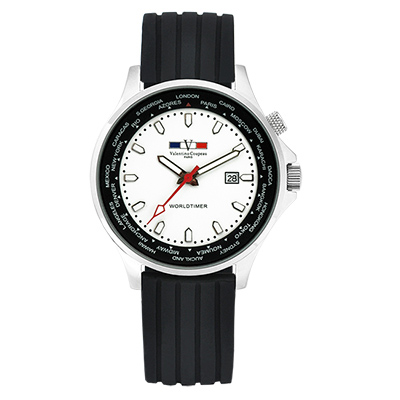 Valentino Coupeau 范倫鐵諾 古柏 世界時間腕錶 白面 矽膠帶