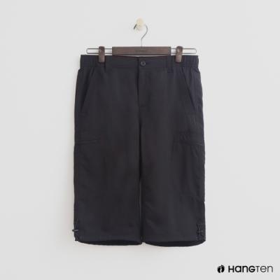 Hang Ten - 男裝 - ThermoContro-機能束口五分褲 - 黑