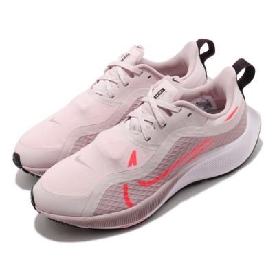Nike 慢跑鞋 Pegasus 37 Shield 女鞋 氣墊 舒適 避震 路跑 健身 防潑水 粉 白 CQ8639600