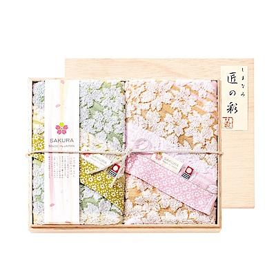 日本Prairiedog 今治匠彩白櫻精緻禮盒組(毛巾X2)