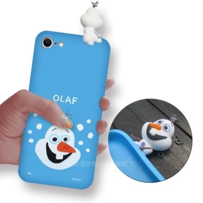 迪士尼授權正版 iPhone SE 2020/SE2 趴姿公仔手機殼 親膚軟殼(雪寶)