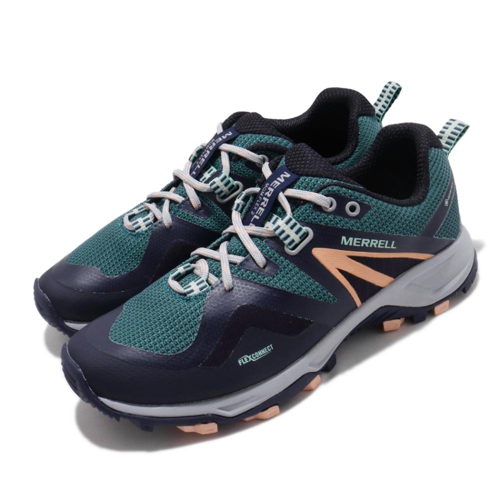 Merrell 戶外鞋 MQM Flex 2 GTX 女鞋 登山 越野 耐磨 防潑水 彈性支撐 膠底 藍 綠 ML033676