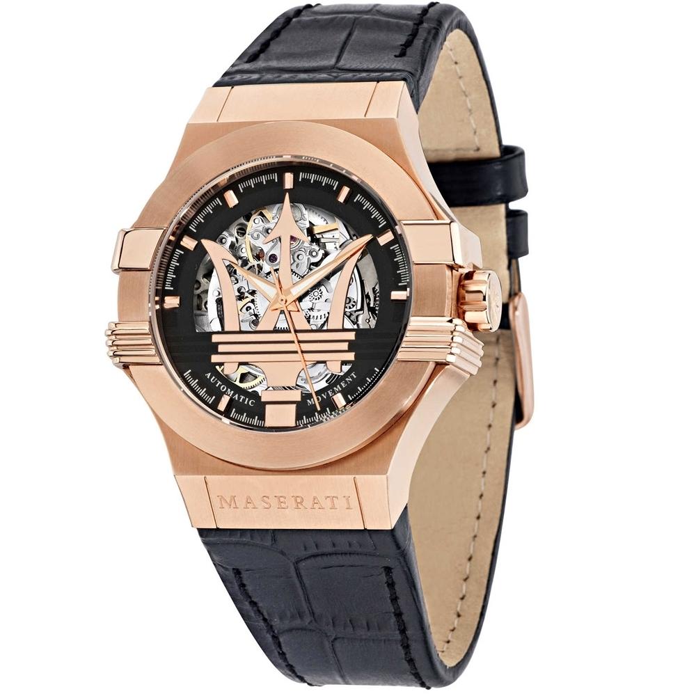 MASERATI 瑪莎拉蒂 POTENZA/鏤空機械簡腕錶(R8821108002)